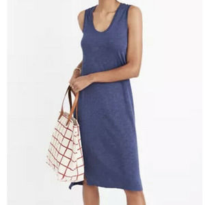 New Without Tags: MADEWELL  Sleeveless Shirt/Tank Dress, Navy. Size SMALL